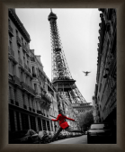 Paris - red woman