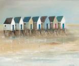 Beach cabins I - Jean Jauneau