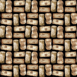 Wine Cork Pattern A (black)