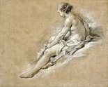A Nude Girl Seated
