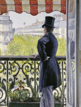Man on a Balcony, Boulevard Haussmann