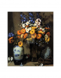 Calendulas and Chinese Vase