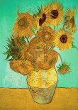 Still Life, Vase With Twelve Sunflowers
