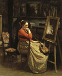 Corots Studio, Young Woman With a Mandolin