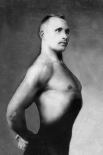 Right Profile of Bodybuilder from the Waist Up