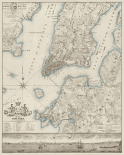 Plan of the City of New York, copied from the Ratzer Map - Decorative Blue Shading