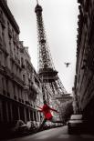 Paris - red woman