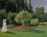 Dame im Garten, 1867
