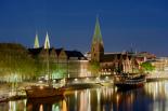 Bremen Hafen bei Nacht