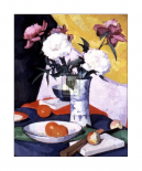 Peonies and Fruit