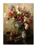 Spring Flowers and Ginger Jar