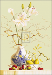 Still Life with Chinese Vase and Flowers