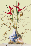 Still Life with Chinese Vase, Shells and Flowers