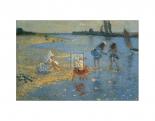Walberswick, Children Paddling