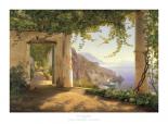 View to the Amalfi Coast - mit Rand