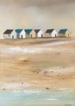 Beach cabins III - Jean Jauneau