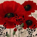 Red poppies II - Wood Linda