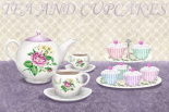 Tea and cupcakes - Wood Linda