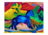 Blaues Pferdchen Kinder Bild