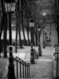 The famous staircase in Montmartre, Paris, France