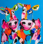 Colourful art cows - Art Fiore