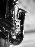 Hands of Saxophonist Playing