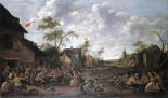 Peasants Feasting On a Village Street