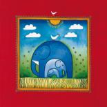 Three little elephants