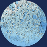 Unmarked Decorative Topographic Map of the Moon, North Pole