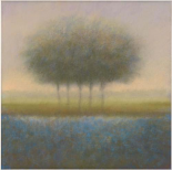 Blue group of trees
