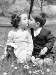 Springtime in Rome (toddlers kissing)