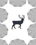 Dancing Deer I - Anne Waltz
