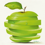 Green Apple Cut