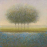 Blue group of trees - Hans Dolieslager
