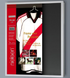 Voetbalshirt wissellijst zilver - Voetbalshirt Framebox