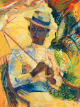 Boater Hat with Parasol