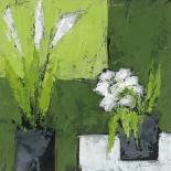 Arums et tulipes ensemble