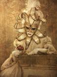 Masque II-leather dibond - Babette van den Berg