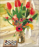 Tulips and Anemones