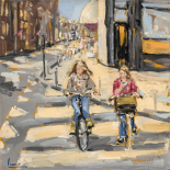 Kids on bikes - Nicole Laceur