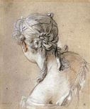 Head of a Woman Seen From Behind