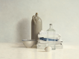 Jar, Bottle, Egg, Bowl and Cloths