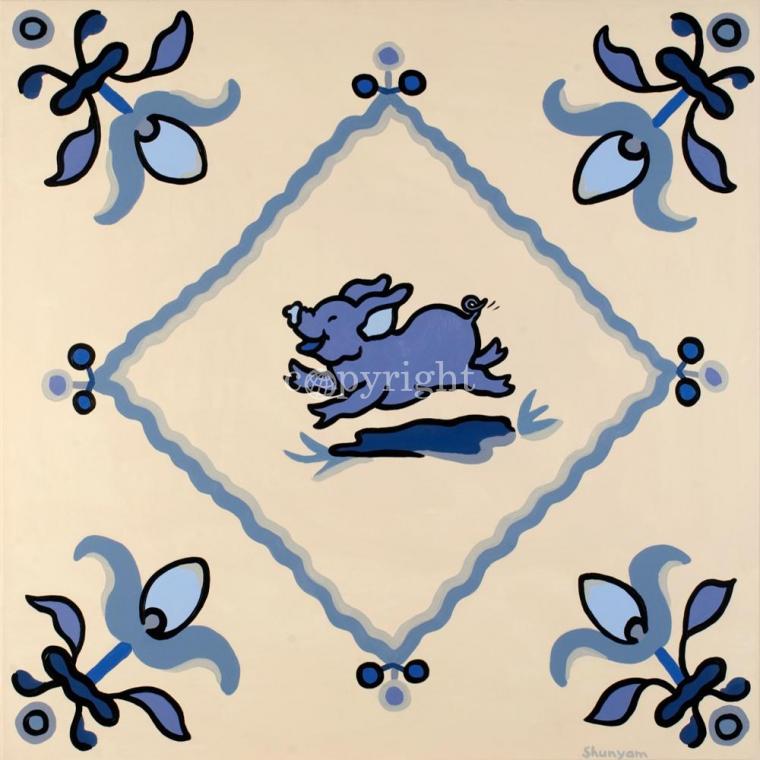 Delft blue pigs II
